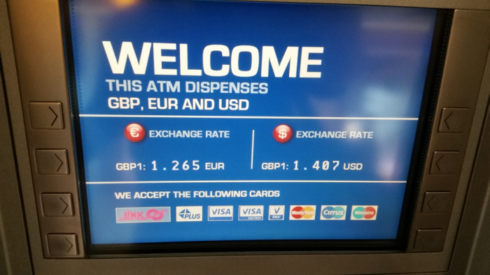 Travelex London Heathrow Currency Express Atms