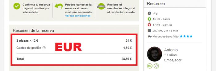 BlaBlaCar EUR