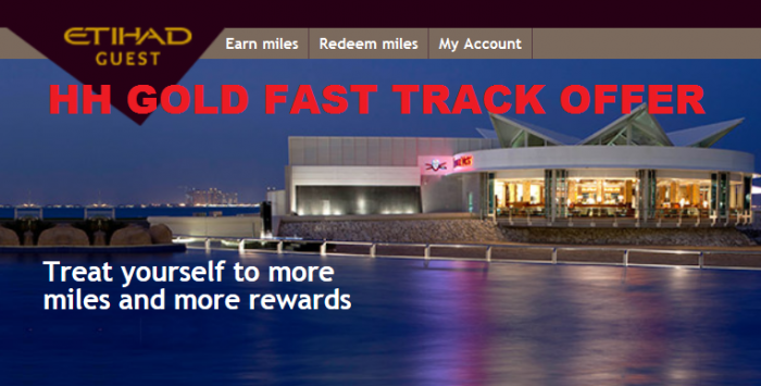 Hilton HHonors Etihad Guest Gold Fast Track Offer Fall 2015