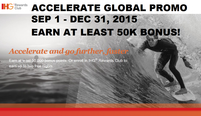 IHG Rewards Club Accelerate Promotion