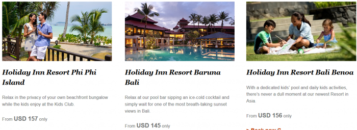 IHG Rewards Club Triple Miles Select Asia-Pacific Resorts Until December 19 2015 2