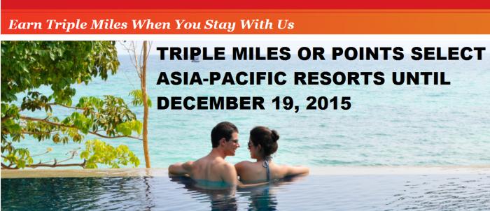 IHG Rewards Club Triple Miles Select Asia-Pacific Resorts Until December 19 2015