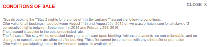 Le Club Accorhotels August 2015 Private Sales Switzerland Conditions