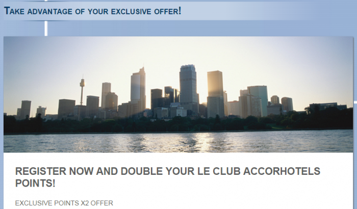 Le Club Accorhotels Double Points For A Stay Reminder 2015