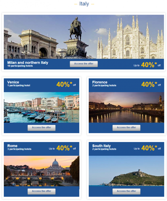 Le Club Accorhotels Europe Up To 50 Percent Off Private Sales Italy 1
