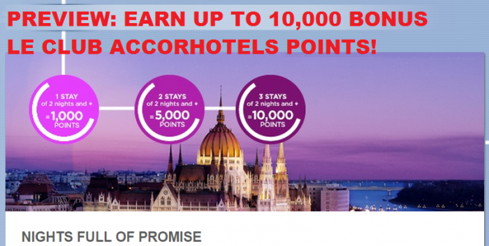 PREVIEW Le Club Accorhotels Up To 10,000 Bonus Points After 3 Stays By December 31, 2015 U