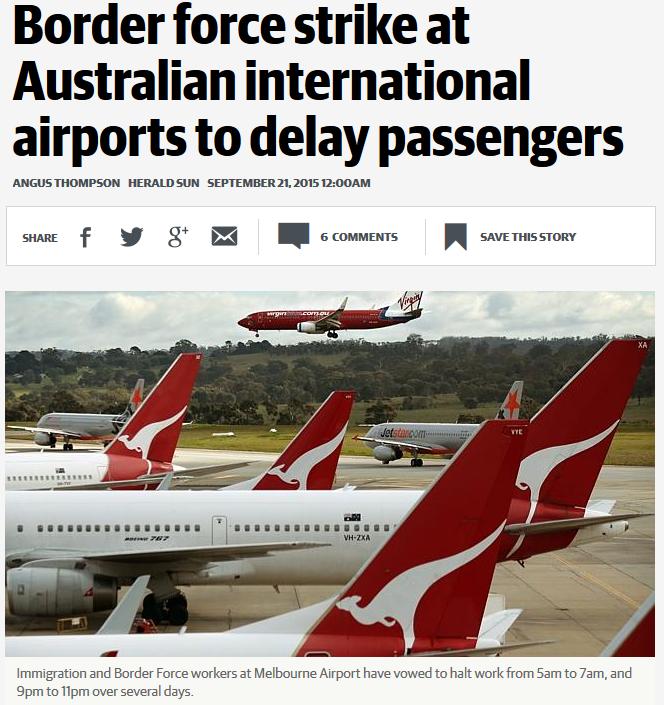 Australian Border Force Strike