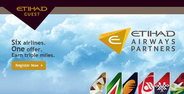 Etihad Airways Etihad Guest Triple Quadruple Miles September 25 December 15 2015