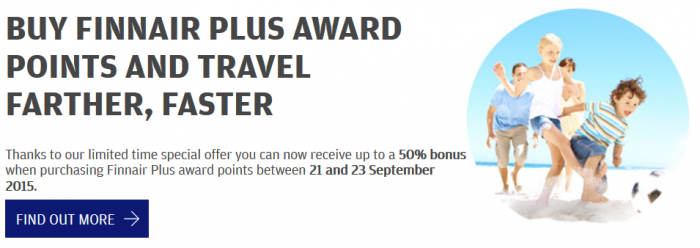 Finnair Plus Purchase Points September 2015 Campaign