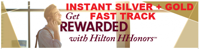 Hilton HHonors Accenture Instant Silver + Gold Fast Track 2015