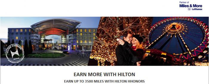 Hilton HHonors Lufthansa Miles&More 3500 Bonus Miles September 1 November 30 2015