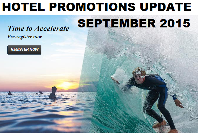 Hotel Promotions Update September 2015