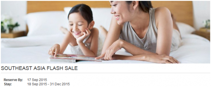 Hyatt Gold Passport South East Asia Up To 40 Percent Off Flash Sale September 15 - 17 2015