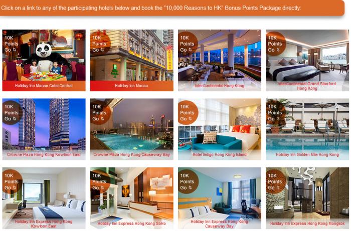 IHG Rewards Club Hong Kong & Macau 10,000 Bonus Points February 29 2016 Participating Hotels