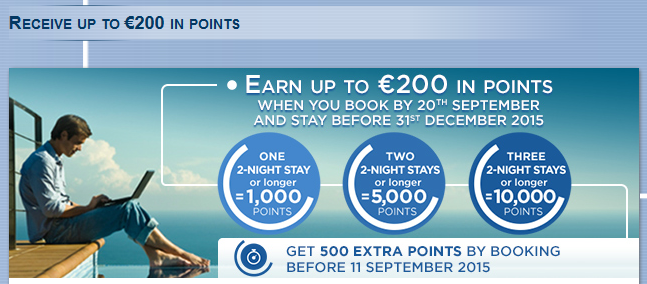 Le Club Accorhotels 10000 Points Three Stays September 9 December 31 2015