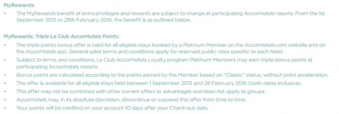 Le Club Accorhotels MyResorts Benefits MyRewards T&Cs