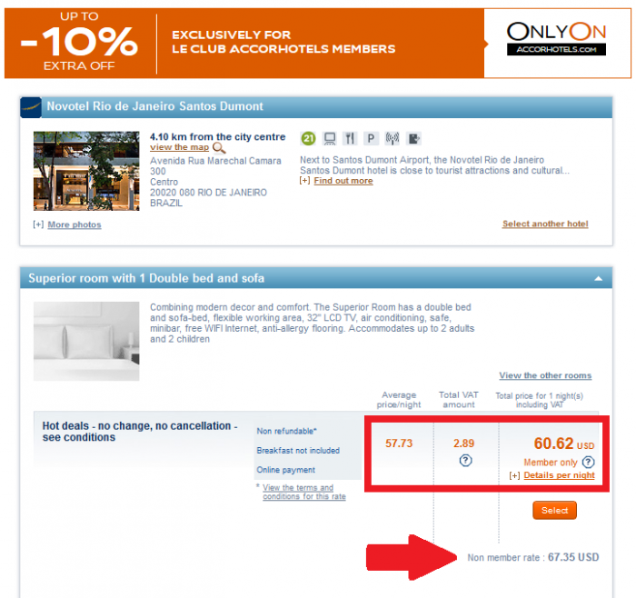 Le Club Accorhotels Only On Up To 10 Percent Member Discount Display Vovotel SDU 1