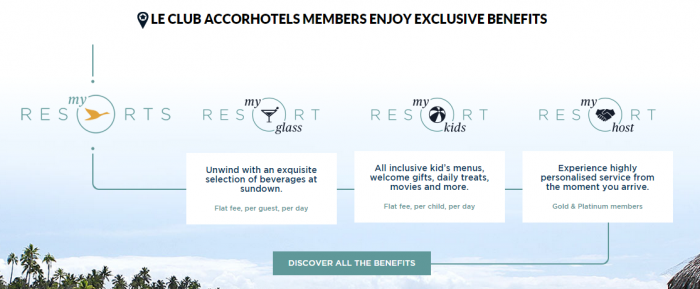 Le Club Accorhotels Platinum Triple Points Asia-Pacific Resorts September 1 February 29 2016 MyResorts Member Benefits