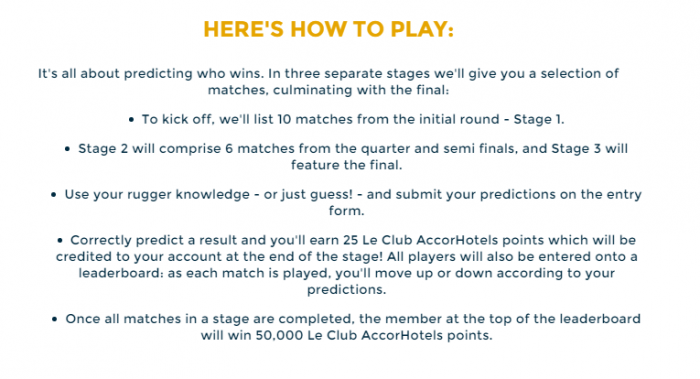 Le Club Accorhotels Rugby World Cup How To Play