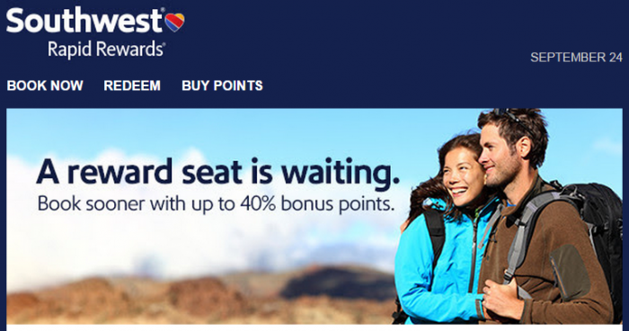 Southwest Airlines Buy Points September 2015 Promotion