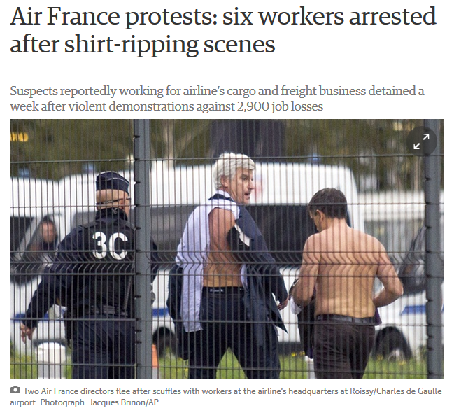 Air France Six Arrested