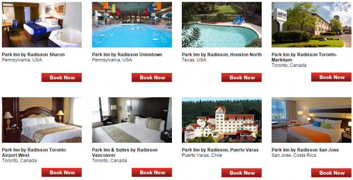 Club Carlson Park Inn 15,000 Bonus Points September 30 December 31 2015 Hotels 2