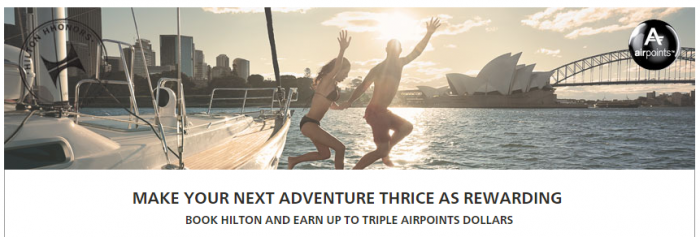 Hilton HHonors Air New Zealand Triple Airpoints September 1 December 31 2015