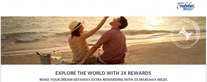 Hilton HHonors Philippine Airlines Triple Mabuhay Miles October 1 December 31 2015