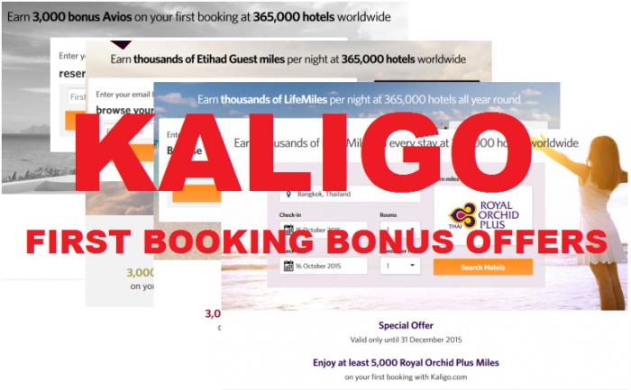 Kaligo First Booking Offers