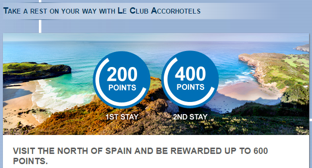 Le Club AccorHotels North Spain Up To 600 Bonus Points October 15 - December 31 2015