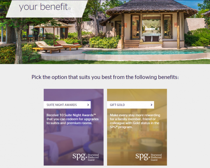 SPG 50 Night Benefits Rant Selection Online