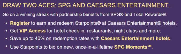 SPG Caesars Partnership Email Body