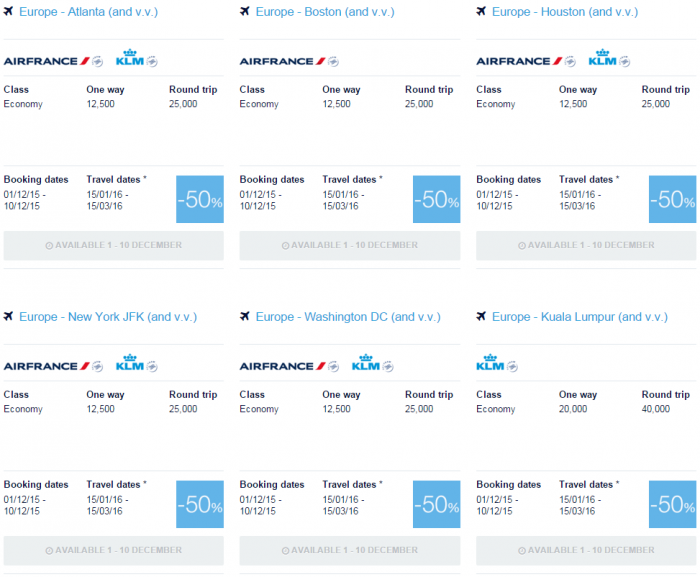 Air France-KLM Flying Blue Promo Awards 10th Anniversary 4