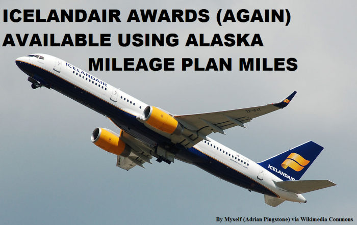 Alaska Airlines Mileage Plan Icelandair Awards