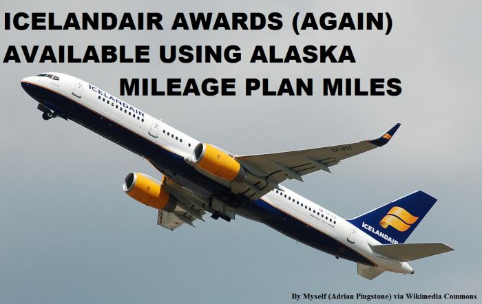 Alaska Airlines Mileage Plan Icelandair Awards