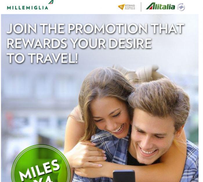 Alitalia MilleMiglia Up To Quadruple Miles November 15 - March 31 2016