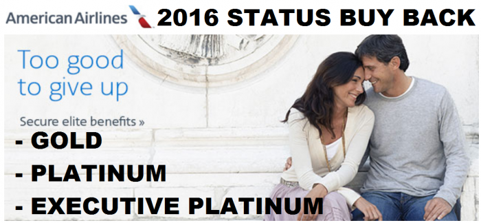 American Airlines 2016 Status Buy Back