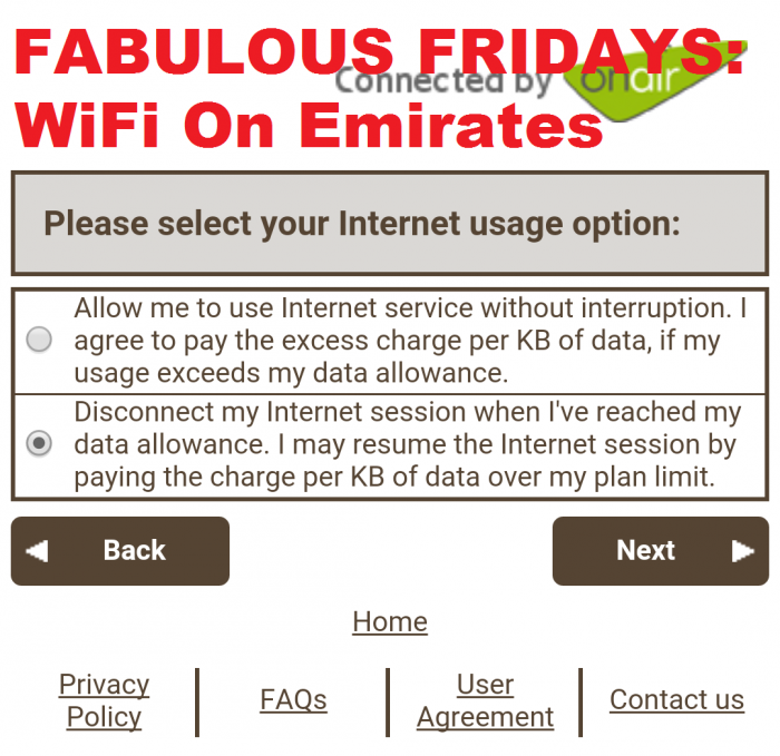Fabulous Fridays OnAir Internet On Emirates