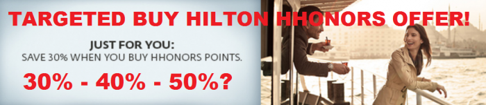 Hilton HHonors Targeted Buy Points Promotion November 17 December 15 2015