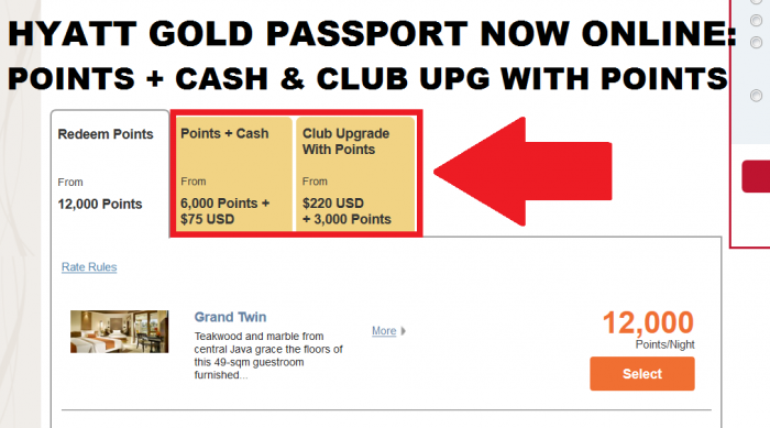 Hyatt Gold Passport Points + Cash Now Available Online