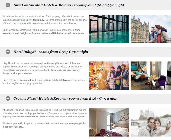 IHG Rewards Club Europe Winter Sale December 1 - February 29 2016 1
