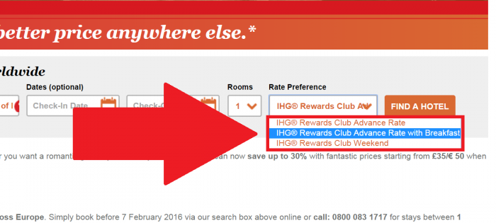 IHG Rewards Club Europe Winter Sale December 1 - February 29 2016 Rates