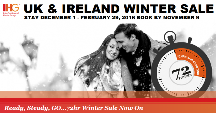 IHG Rewards Club UK & Ireland 72-Hour Winter Sale November 6 - 9 2015