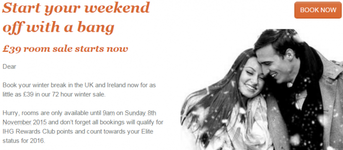 IHG Rewards Club UK & Ireland 72-Hour Winter Sale November 6 - 9 2015 Body U