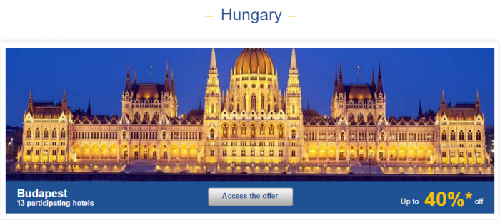 Le Club AccorHotels Europe Private Sales Nov 10 Hungary 1