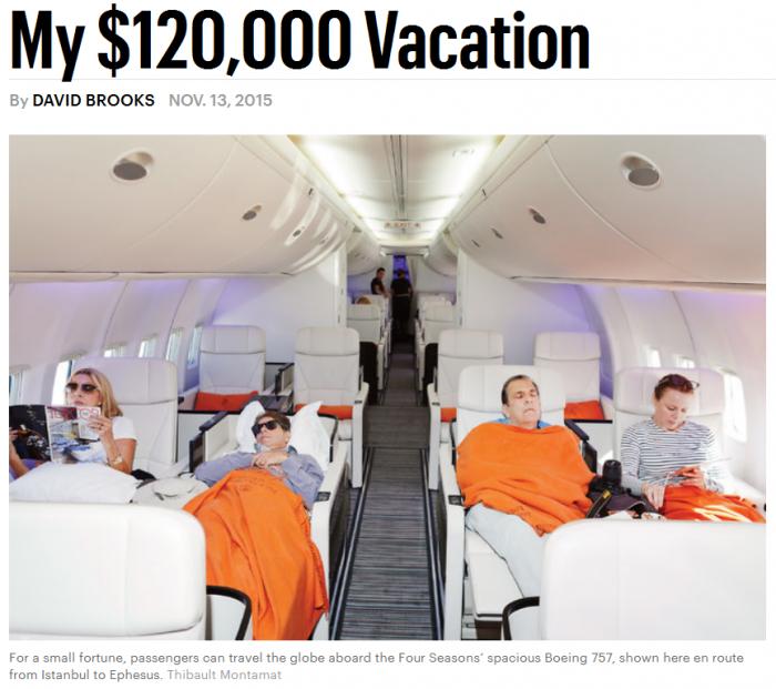 NYT My $120,000 Vacation