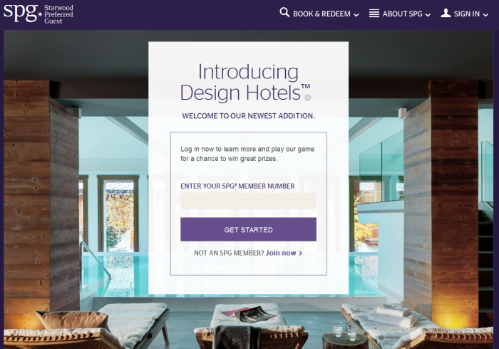 SPG Design Hotels Sweepstakes