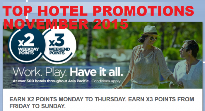 Top Hotel Promotions November 2015