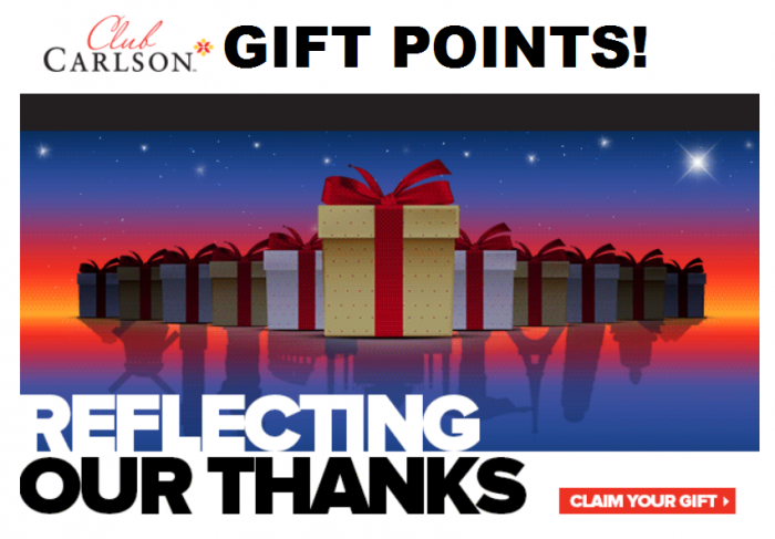 Club Carlson Europe Bonus Points