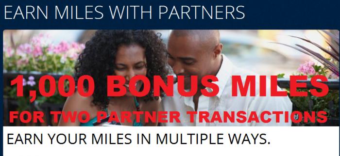 Delta SkyMiles 1,000 Bonus For Two Partner Transactions